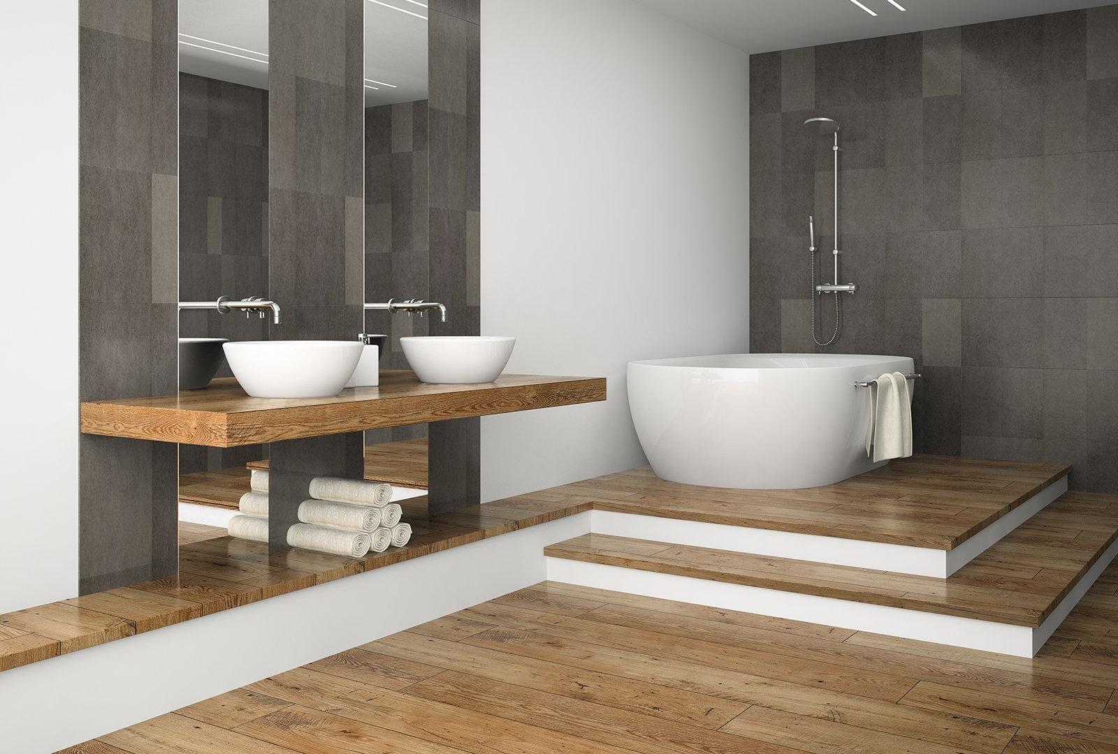 ¿Es buena idea instalar un suelo de madera en el baño ...